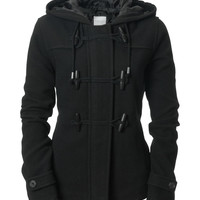 Aeropostale Girls Solid Peacoat - Black,