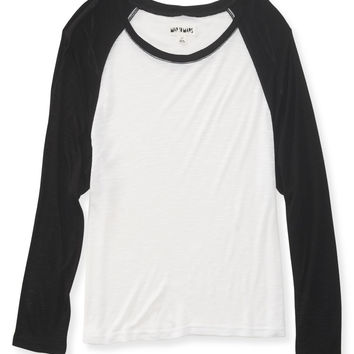 Aeropostale Map to Mars 3/4 Sleeve Raglan Crop Tee -