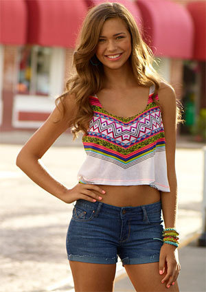 Demi Graphic Tribal Tank