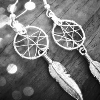 baby dream catcher earrings