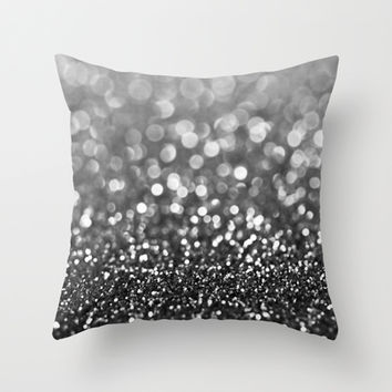 Ebony Sparkle Throw Pillow by Tangerine-Tane