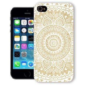 ChiChiC® Iphone Case, i phone 5 5s case, Iphone5 Iphone5s covers, plastic cases back cover skin protector,geometric white mandala wood grain