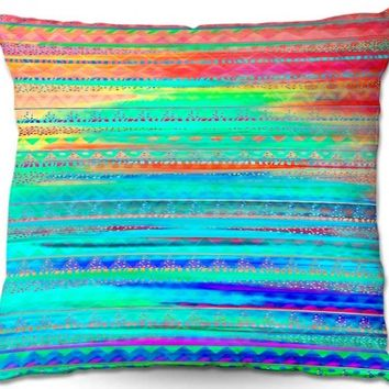 Throw Pillows Indoor Outdoor Decorative Unique Artistic | Nika Martinez's Ethnic Sunset