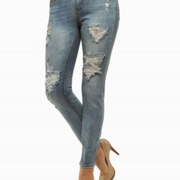 ZCO JEGGING DESTRUCTED HIGH WAIST JEANS