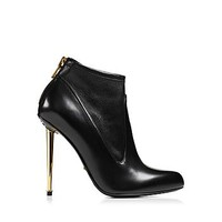 Nappa Stretch Metal Stiletto Ankle Boot