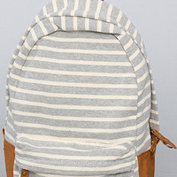 The Striped Backpack in Gray