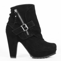 Blowfish Vilocate Heel in Black Fawn