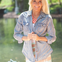 Button Up Denim Top