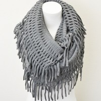 Lenore Infinity Scarf- Grey