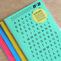 Colorful Alphabet Sticker Set