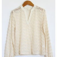 Fuzzy Knit Long Sleeve