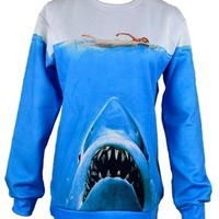 Unisex Hipster Novelty Sweater Jaws Wicked Sweatshirt Hoodies 3D T Shirts (S)