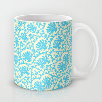 aqua twirl Mug by Sylvia Cook Photography