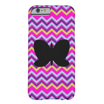 Black Butterfly on Chevron iPhone 6 Cases