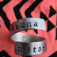 Hakuna Matata spiral ring