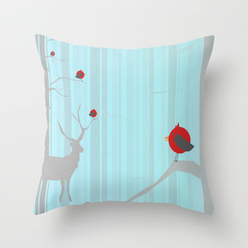 Winter Holidays Throw Pillow by Allison Reich