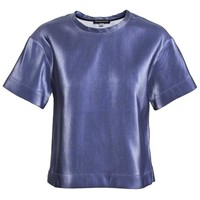 OSTWALD HELGASON | Metallic Boxy Top | Browns fashion & designer clothes & clothing