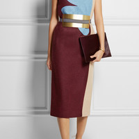 Roksanda Ilincic - Lea color-block wool-felt dress