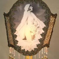 Vintage Art Deco BRIDE French NUDE Flapper Boudoir Lamp - OOAK - Exquisite - 1920s