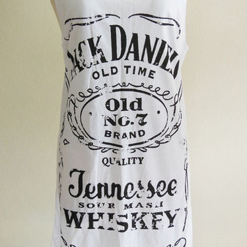 Jack Daniels Old No.7 Brand Sour Mash Tennessee Whiskey -- Jack Daniels Shirt Women Tank Top Vest Tunic Sleeveless White Shirt Size S , M