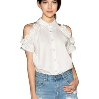 Cut It Out Floral Applique Shirt