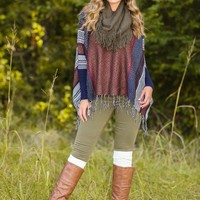 Out Of Bounds Poncho Sweater