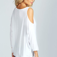 Charlotte Cut Out Shoulder Top
