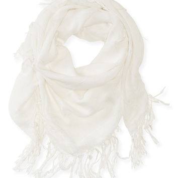 Aeropostale Metallic Accent Windowpane Scarf -