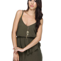 Real McCoy Olive Green Dress