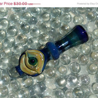 ON SALE Crazy Eye Chillum Onie Hitter pipe glass American made