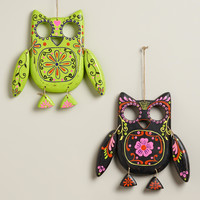 Neon Wooden Owl Wall Decor - World Market