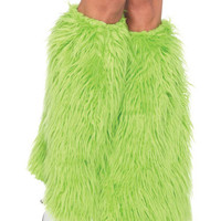 Halloween Costumes | Leg Avenue Costumes - Furry Green Leg Warmers 3934