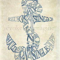 Evoke & Imagine - Anchor - Art Print & Canvas