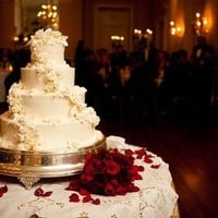 style me pretty : wedding inspiration : rose cake
