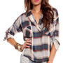 Fancy Lumberjack Blouse in Blue and Red :: tobi