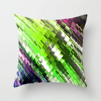 LOUNGE COLORS Throw Pillow by Chrisb Marquez