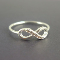 silver infinity ring us size 5 - 9