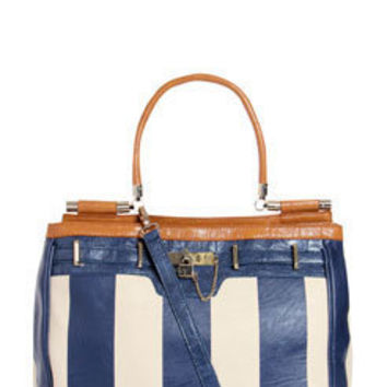Laura Large Stripe Pu Contrast Bag