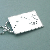 Draco - Constellation Necklace - Hand Stamped Sterling Silver