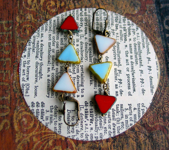 triangle earrings - west - ready to ship