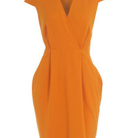 Orange cap sleeve dress - Day Dresses - Dresses - Dorothy Perkins