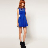 Bqueen Neoprene Laser Cut Waisted Dress BY143L