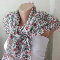 Cotton Flower Spring Scarf