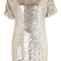 Premium Sequin T-Shirt Dress