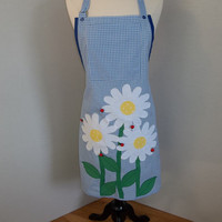 Daisies and Ladybugs Apron     O.O.A.K.