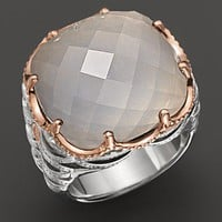 Tacori Clear Quartz Over Chalcedony Ring Set In Sterling Silver And 18 kt. Pink Gold - Rings - Bloomingdales.com