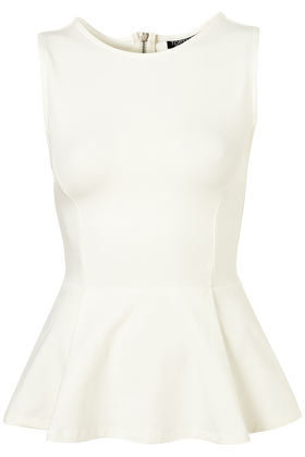 Sleeveless Zip Peplum Top - New In This Week  - New In
