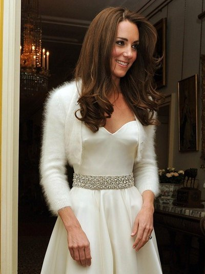 Ready to ship -  HANDMADE Ivory/Champagne Kate Middleton Angora Shrug / Bolero hand knitted with handspun angora/ fit size Medium