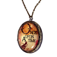 Once Upon A Time Locket Pendant in Antiqued Brass Setting