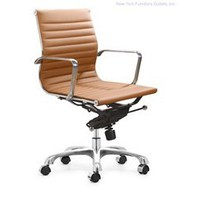 Zuo Lider Office Chair - Terracotta - 205206, Designer Office Chair, Modern Office Furniture: Nyfurnitureoutlets.com